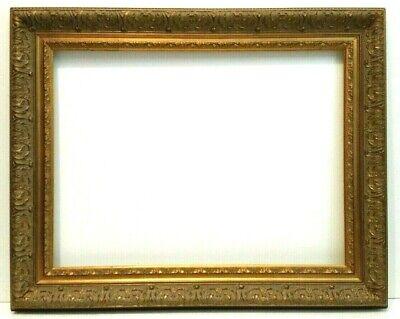 """18/"""" X 24/"""" STANDARD PICTURE FRAME 2 1//4/"""" WIDE GOLD LEAF /& BLACK REVERSE PANEL"""