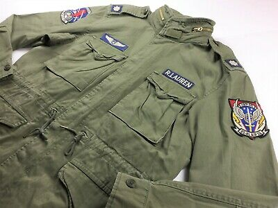4fb94b02 Polo Ralph Lauren Men Military Patch M-65 Field Jacket L XL 2XL Olive Hi  Tech | eBay