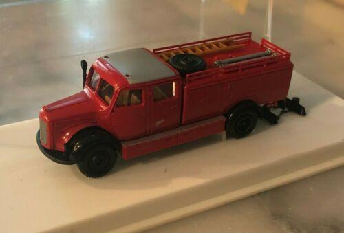 BREKINA HO Scale #4026 Mercedes Fire Truck