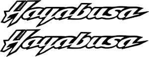 2 x Hayabusa logotipo muchos colores tamaño 13 cm x 2,5 cm prestigio