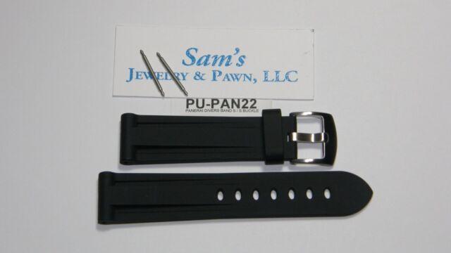 Heavy Duty 22mm BlackRubber PU Diver Watch Band: fit Luminox & Nixon #STAR-Pan22