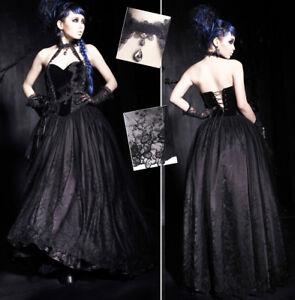 Robe-bal-soire-gothique-lolita-baroque-dentelle-velours-broderie-corset-Punkrave
