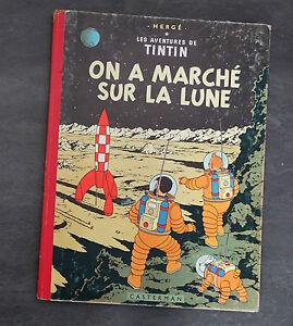 BD-Tintin-On-a-marche-sur-la-lune-Herge-edition-B33-de-1963