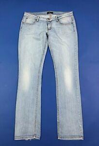 Phard jeans donna usato W32 tg 46 gamba dritta straight denim boyfriend T6750