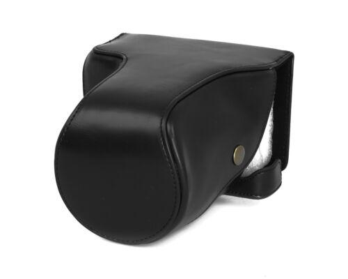 Estuche carcasa para Fujifilm x-e3 largo piel sintética Fuji bolso negro cc1155a