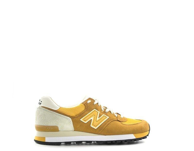 Schuhe NEW BALANCE Mann ARANCIONE Stoff,Wildleder  M575YLW