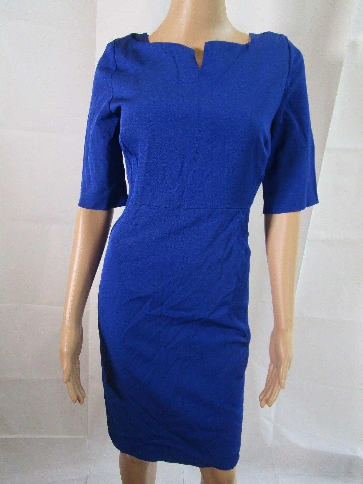 L.K. Bennett Blau DR Tan Dress Größe 8