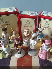 7 x Bunnykins Nursery Rhyme series, Little Bo Peep, Wee Willie, Jack & Jill mint