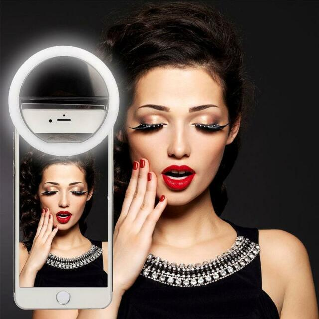 Selfie Flash LED Phone Camera Photography Ring Light For Apple Iphone Samsung #w