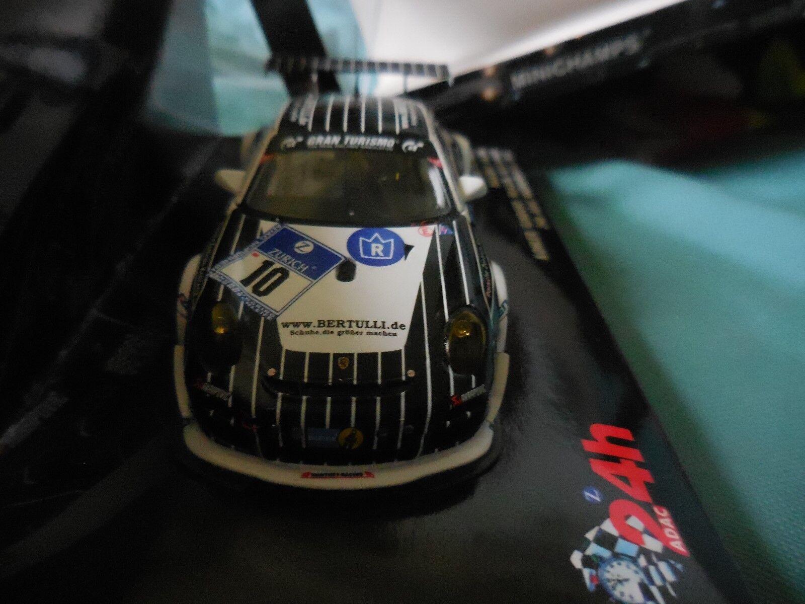 1 43 PORSCHE PORSCHE PORSCHE 911 GT3 R  10 MANTHEY 24H NURBURGRING 2011 MINICHAMPS 5ff821