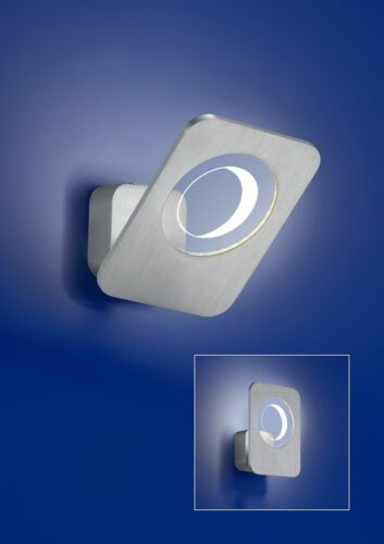 Deutsche LED Wandleuchte Aluminium 560lm 5W Schwenkbar 3000K 17x20cm