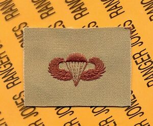 US-Army-Airborne-Parachutist-wing-badge-Desert-DCU-cloth-patch