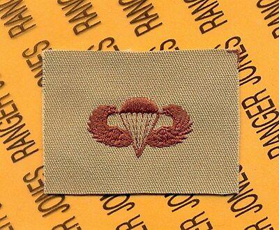 US Army Airborne Parachutist wing badge Desert DCU cloth patch