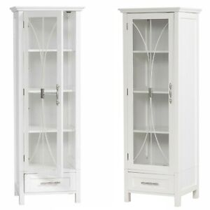 Surprising 1 Door Bathroom Linen Cabinet Tower Furniture Tall Drawer Download Free Architecture Designs Embacsunscenecom