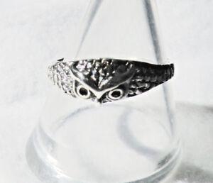 Eulen-Bandring-925-Sterling-Silber-Eule-Kautz-Uhu-Damen-Ring-Symbol-Schmuck-Neu
