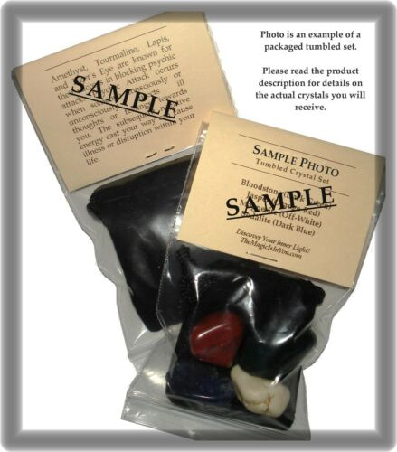 Description Pouch SELF IMPROVEMENT Tumbled Crystal Healing Set = 4 Stones