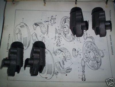 1957-61 AUSTIN NASH  Metropolitan     FRONT BRAKE WHEEL CYLINDERS SET x4