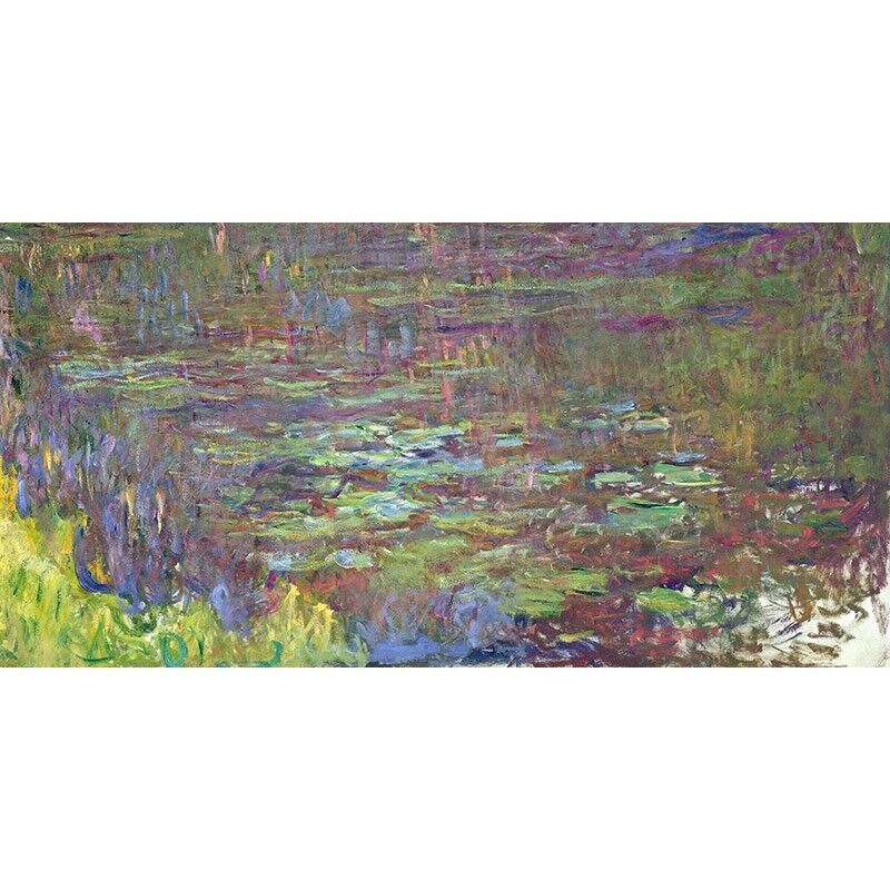 Quadro su Pannello in Legno Legno Legno MDF Claude Monet Waterlilies at Sunset (detail) f3313d