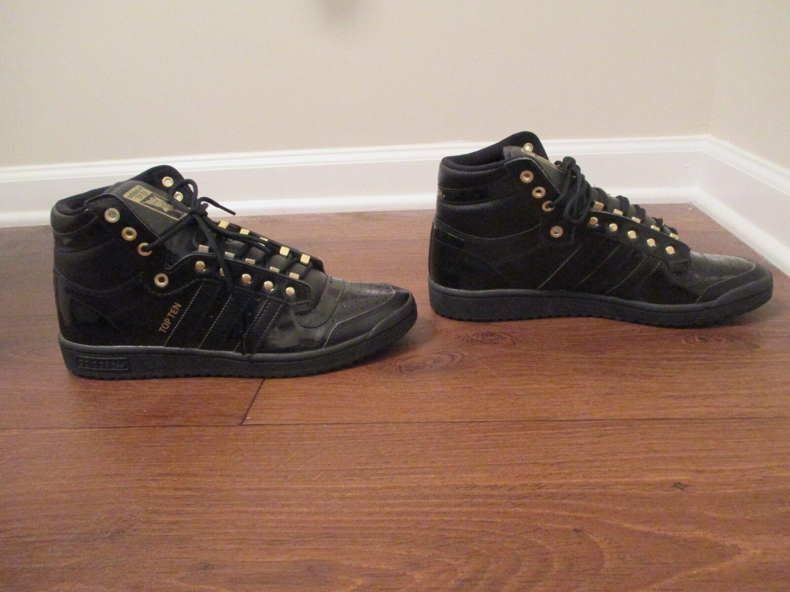 Größe werden 10. adidas zehn getragen werden Größe - schuhe, schwarzes gold 300204