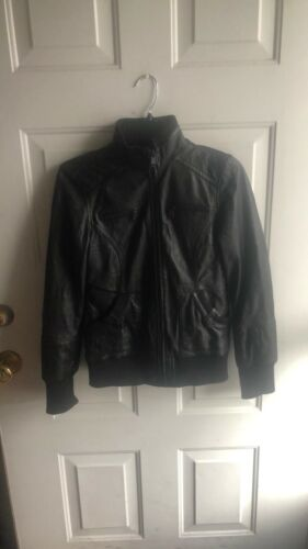 Andrew MarC Leather/Puffer Combo Bomber XS