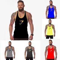 Men Gym Muscle Sleeveless Vest Tank Top Sport T-shirt Bodybuilding Fitness Shirt