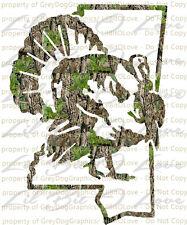 Camouflage Camo Mississippi Turkey Hunter Hunting Vinyl Decal Sticker Gobbler