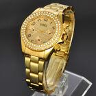 New SOKI Gold Womens Ladies Crystal Anlaog Quartz Wrist Metal Band Watch X115