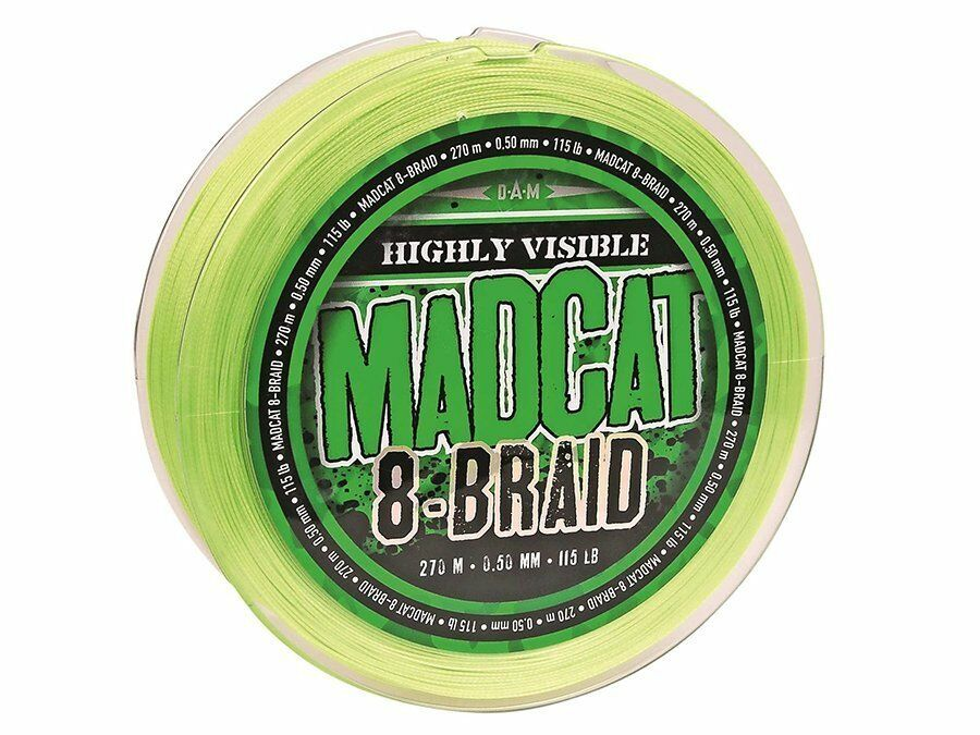 D.A.M. MADCAT 8-Braid 270m verde 0.35mm - 1.00mm Braided Line Spinning