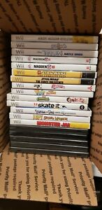 Nintendo-Wii-Games-Lot-Mario-Sonic-Tron-Madden-Carnival-I-SPY-Phineas-SpongeBob