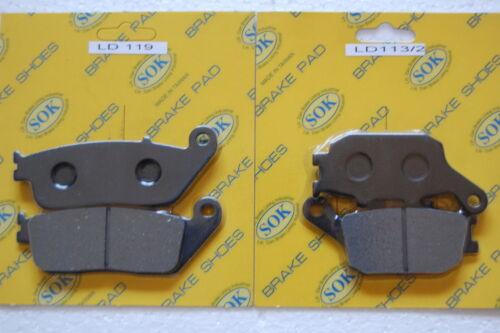 FRONT REAR BRAKE PADS fits HONDA VT 1300,10-15 VT1300 VT1300CR VT1300CT VT1300CX