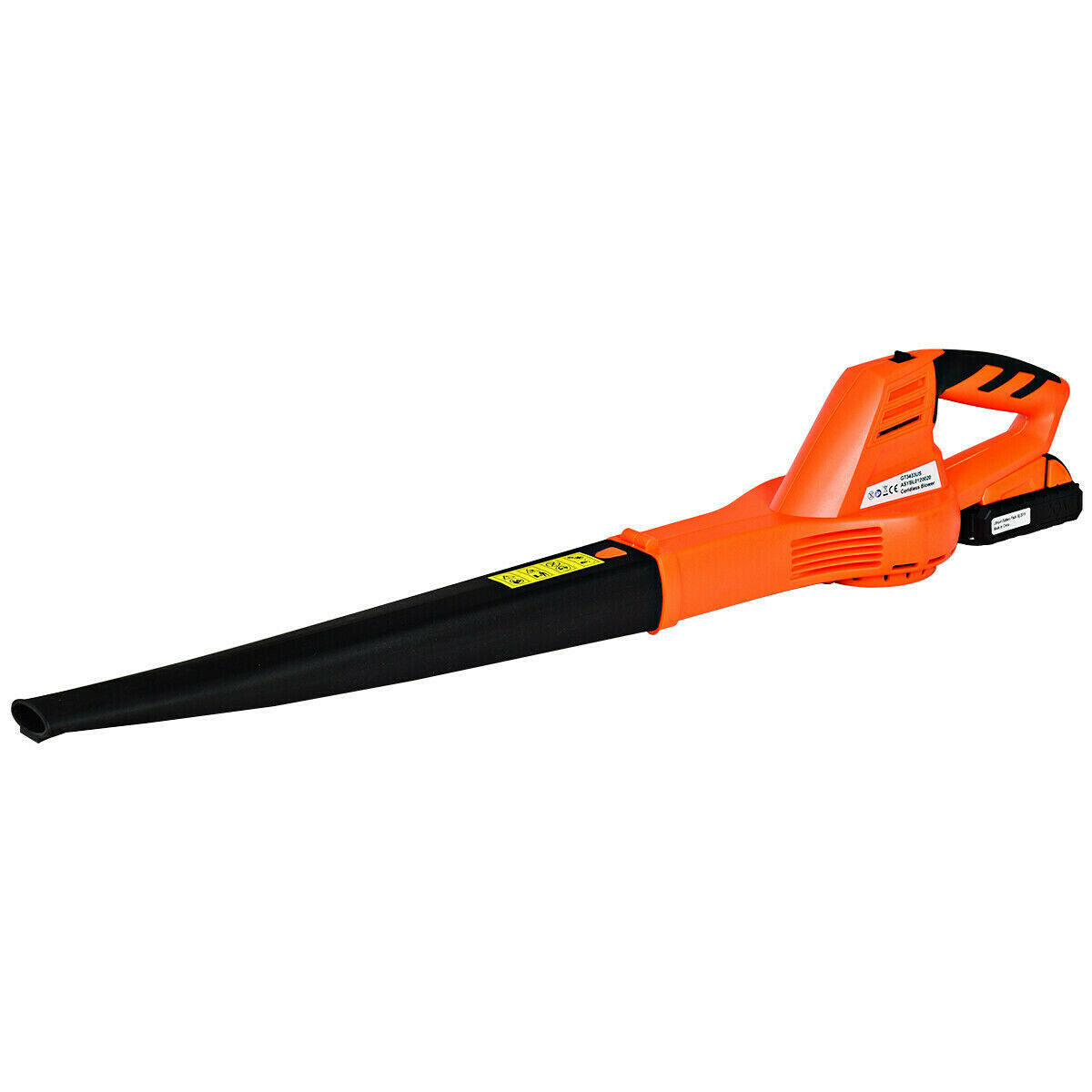 Cordless Leaf Blower Sweeper with 120 MPH Blower with Battery and Charger Orange