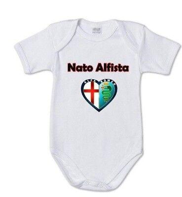 body tuta bimbo neonato Stampa Logo Alfa Romeo Biscione Alfista si nasce regalo