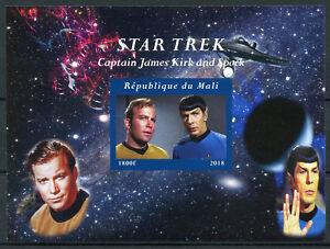 Mali-2018-MNH-Star-Trek-James-Kirk-amp-Spock-Leonard-Nimoy-1v-IMPF-M-S-Stamps