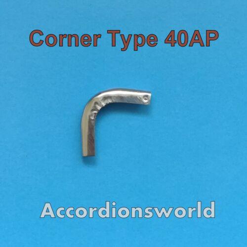 SET of 4 // Akkordeon Metal Balgecken Accordion Metal Corners for Bellows 40AP