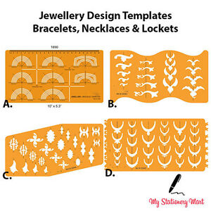 jewellery design template drawing drafting stencil bracelet necklace