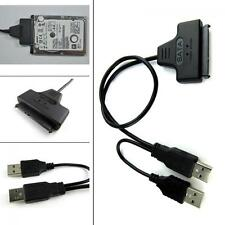 "Adapter Cable For 2.5"" Inch HDD Hard Disk Drive USB 2.0 To SATA 22 Pin"