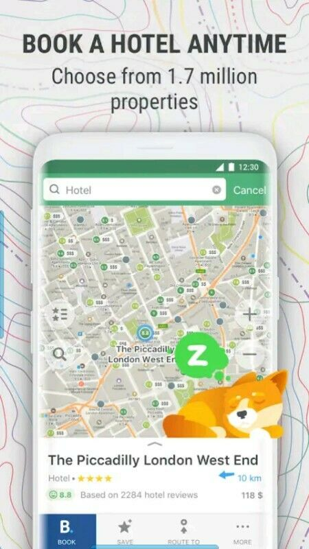 Maps.me GPS navigation app on android