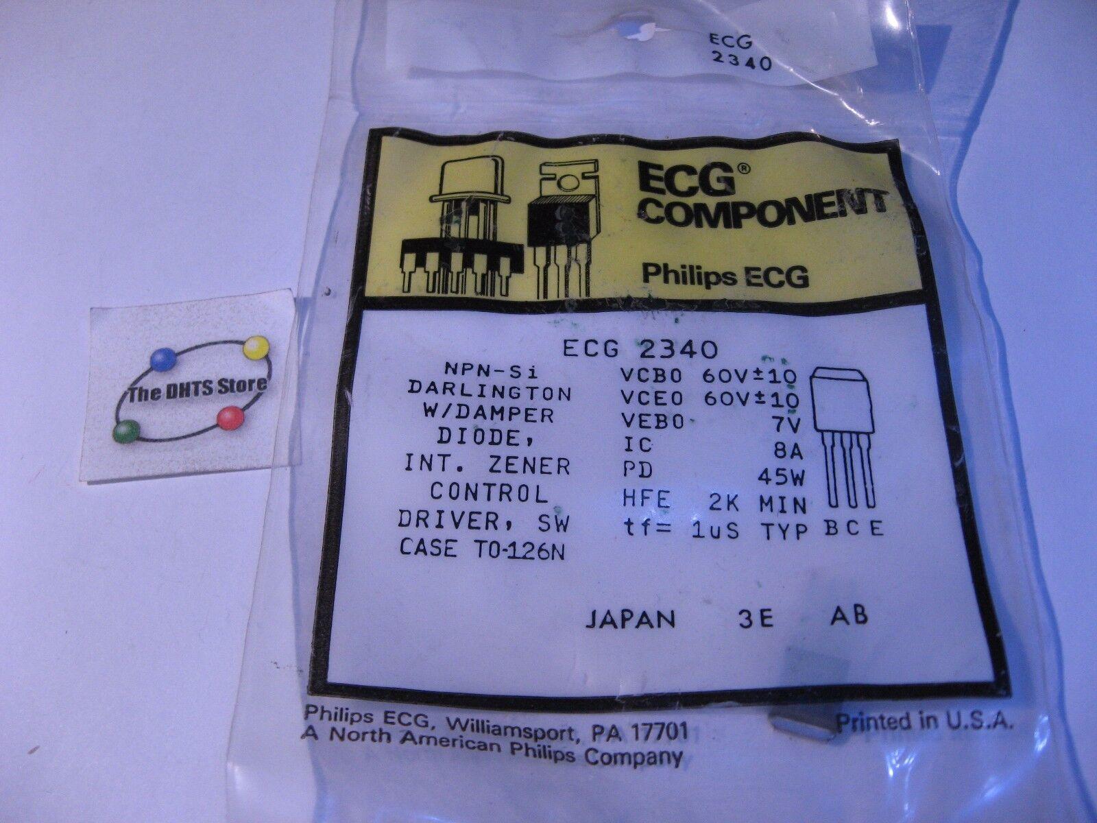Ecg2340 Power Transistor Npn Darlington Philips Ecg Nte2340 Nos Ebay Configuration Norton Secured Powered By Verisign