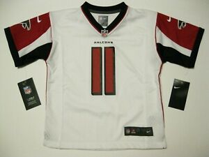 new product 37d23 6d6bb Details about Julio Jones Atlanta Falcons White Kids Large Nike Game Jersey