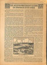 ARTICLE COMPLET Edouard de Keyser Allemagne Anatolie & Syrie/ Gaza  War 1918 WWI