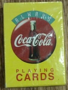NEW SEALED Always Coca-Cola Plastic Coated Playing Cards Deck Coke 1994, No. 35