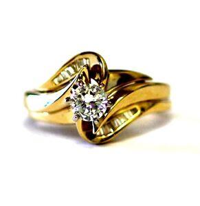 57ct SI1 2 G Diamond Engagement Ring Wedding Jacket Estate EBay