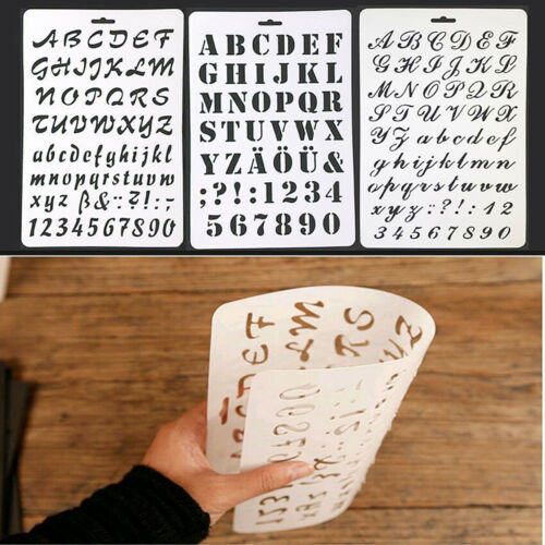 Letter Alphabet Number Layering Stencil Scrapbooking Embossing Paper Cards Craft