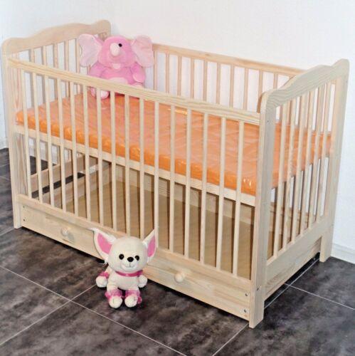 Babybett Komplet Set Gitterbett Schublade Kinderbett MATRATZE Massivholz NEU