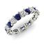 thumbnail 1 - 2.54 Ct Round Diamond Wedding Blue Sapphire 14K White Gold Finish Eternity Band