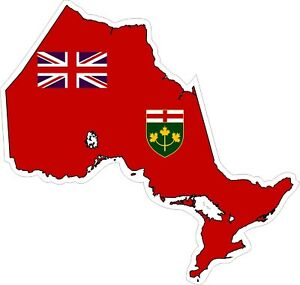 Ontario-Map-Flag-Decal-Sticker