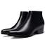 thumbnail 2 - Men's Leather Pointed Toe Ankle Boots Low Cuban Heels High Top Shoes Dress US 9