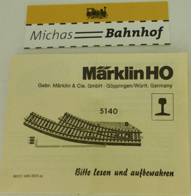 5140 Märklin Manual 68 511 Mn 0574 Ju Å