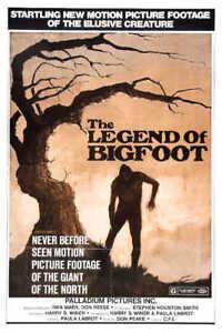 1976 THE LEGEND OF BIGFOOT VINTAGE FILM MOVIE POSTER PRINT 24x16 9 MIL PAPER