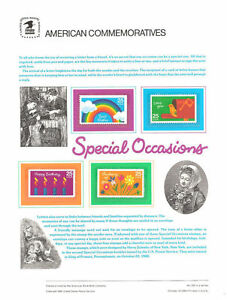 320-25c-Special-Occasions-Booklt-2396-2399-USPS-Commemorative-Stamp-Panel